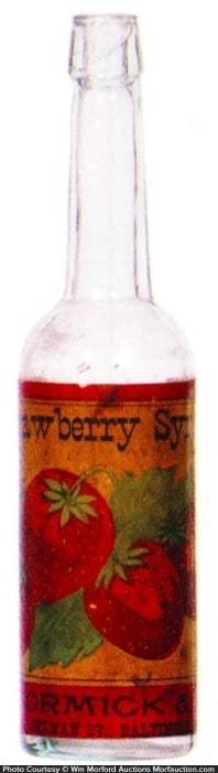 Mccormick Strawberry Syrup Bottle