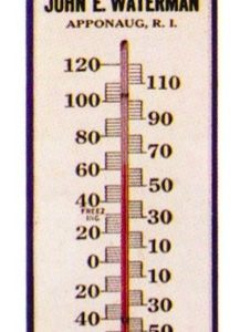 Waterman's Nerve Tonic Thermometer