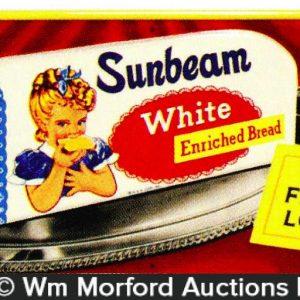 Sunbeam White Bread Sign