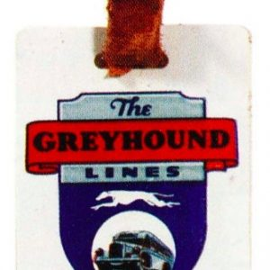 Greyhound Baggage Tag