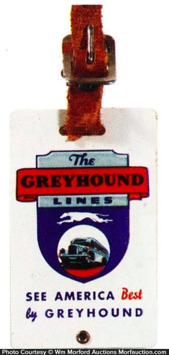 Greyhound Baggage Tag