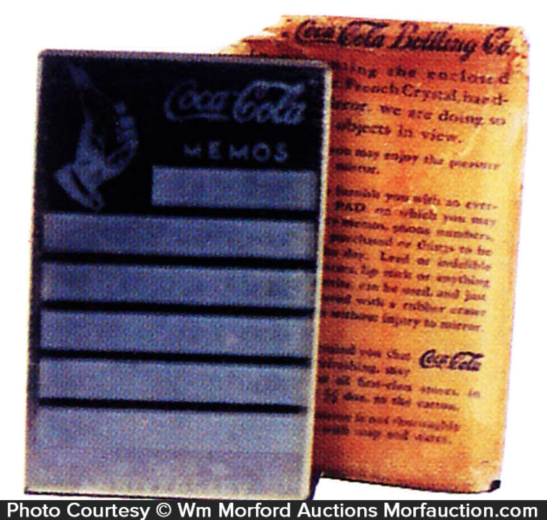 Coke Pocket Mirror Memo Pad
