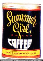 Summer Girl Coffee Can