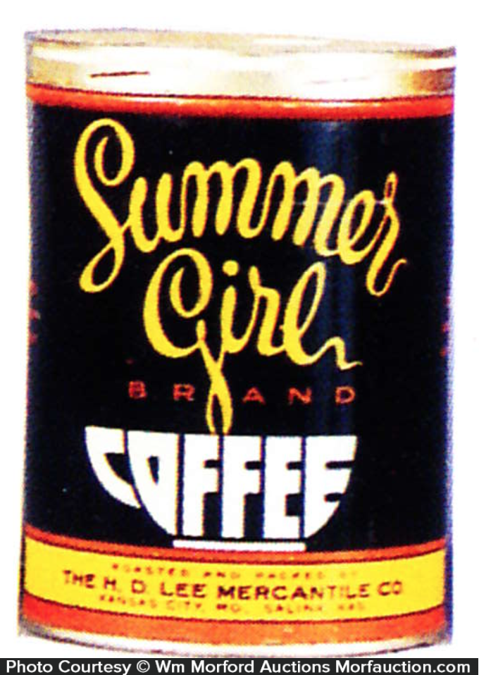 Summer Girl Coffee Can
