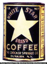 White Star Coffee Can