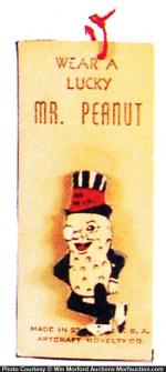 Lucky Mr. Peanut Pin