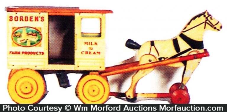 Borden's Horse Drawn Wagon Toy