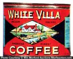 White Villa Coffee Tin