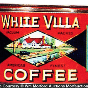 White Villa Coffee Tin