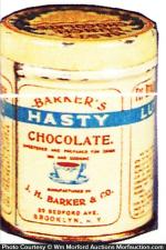 Barkers Hasty Chocolate Tin