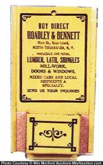 Broadley & Bennett Match Holder
