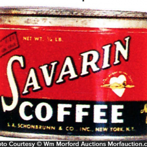 Savarin Coffee Tin Sample