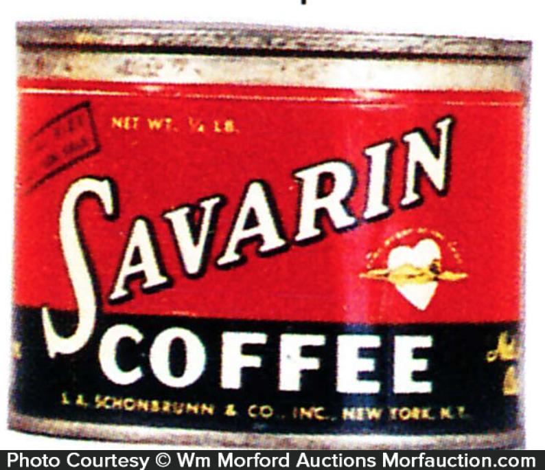 Savarin Coffee Tin Sample
