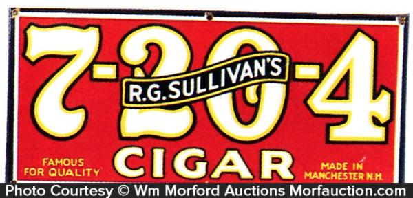 7-20-4 Cigar Sign