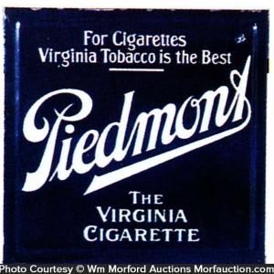 Piedmont Cigarettes Porcelain Sign