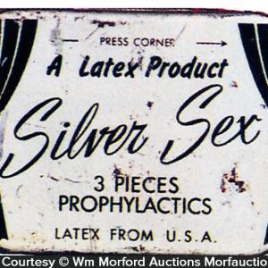 Silver Sex Condom Tin
