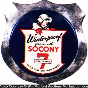Socony 7 Point Service Badge