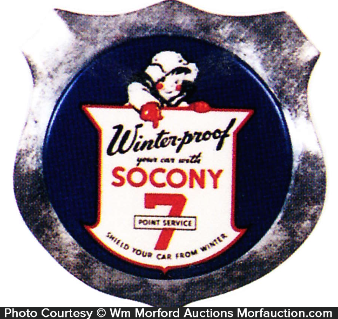 Socony 7 Point Service Badge