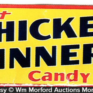 Chicken Dinner Candy Sign