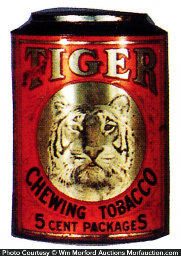 Tiger Chewing Tobacco Bin