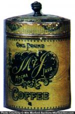 M & J Coffee Tin
