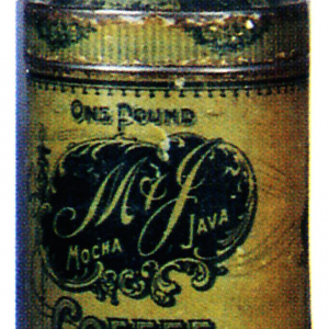 M & J Coffee Tin