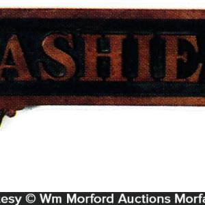 Brass Cashier Sign