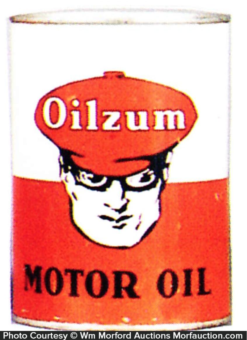 Antique Advertising Oilzum Motor Oil Can Antique