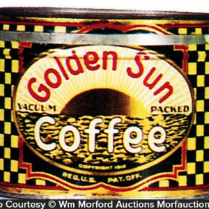 Golden Sun Coffee Can