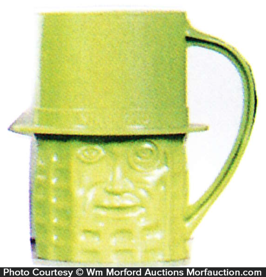 Lime Green Mr. Peanut Mug