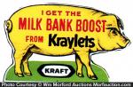 Kraft Kraylets Pig Sign