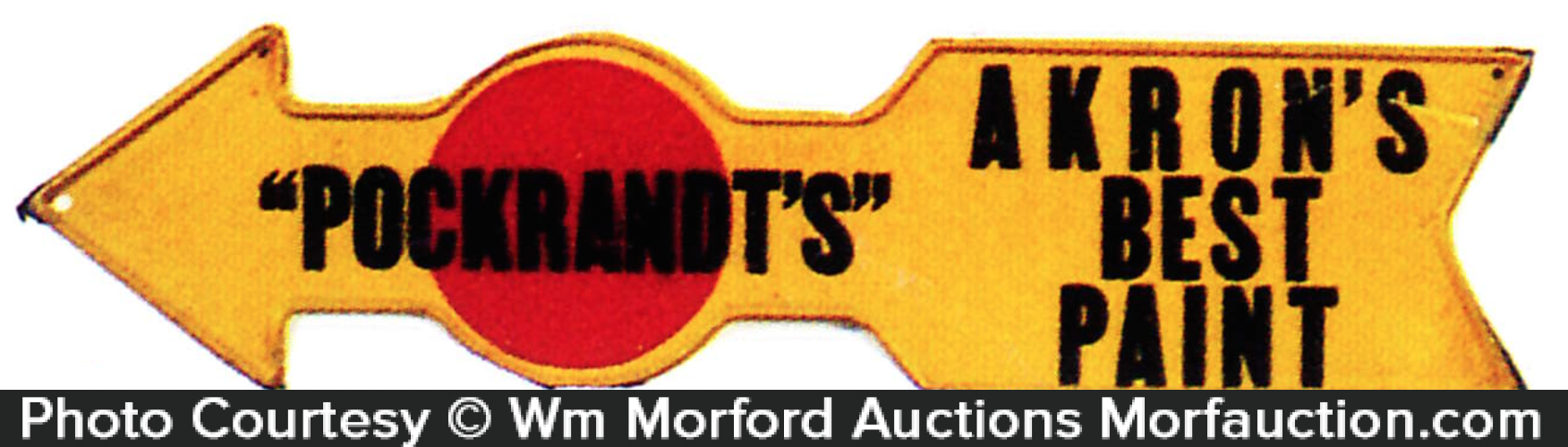 Pockrandt's Akron Paint Sign