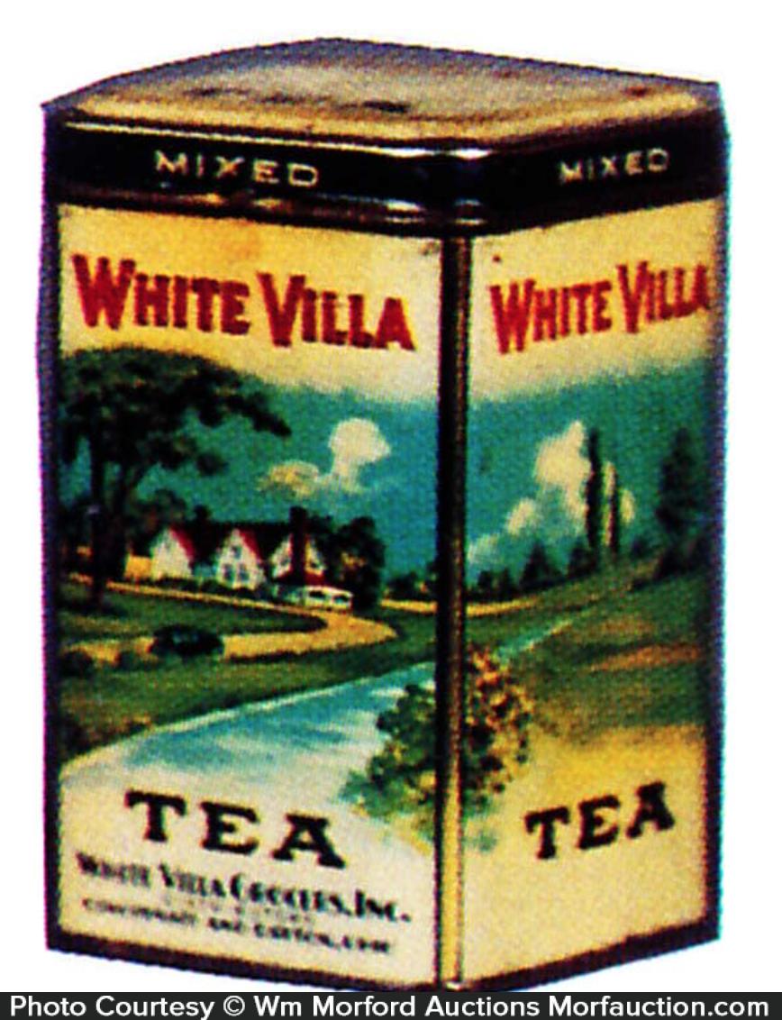 White Villa Tea Tin