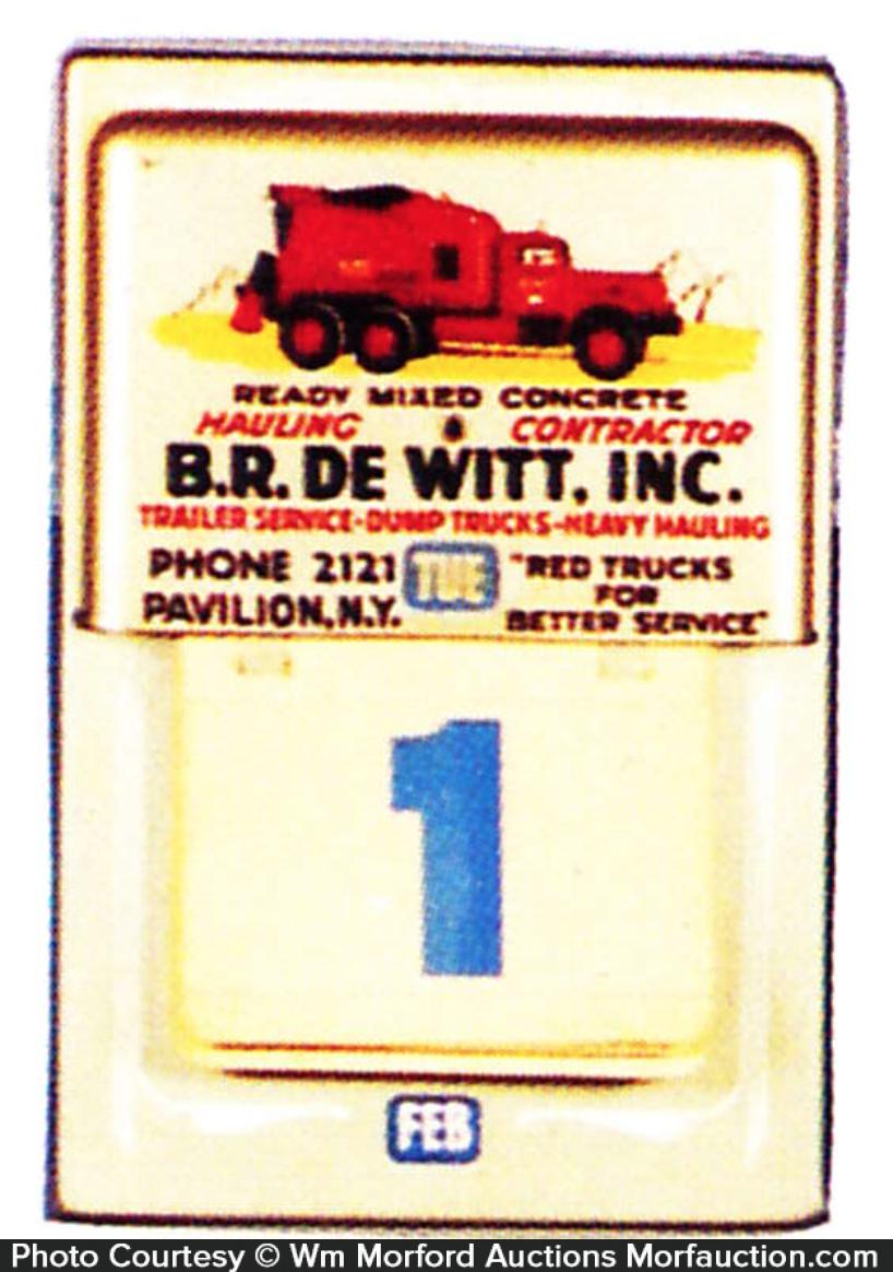 Dewitt Trucks Calendar