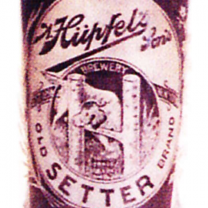 Old Setter Etched Beer Glass