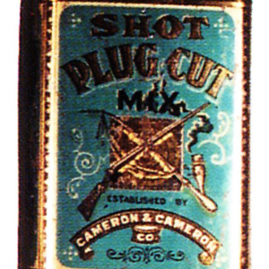 Shot Plug Cut Tobacco Tin