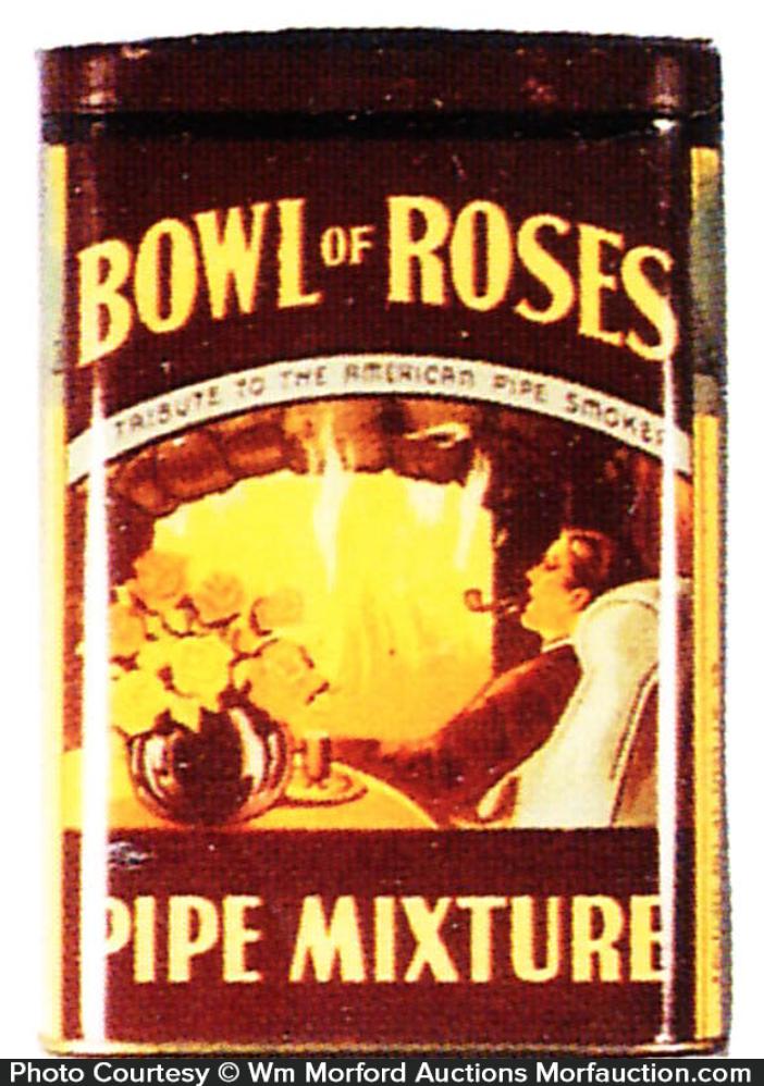 Bowl Of Roses Pipe Mixture Tin