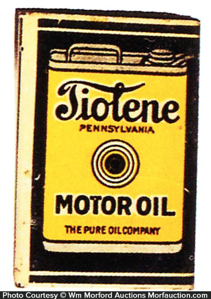 Tiolene Motor Oil Match Holder