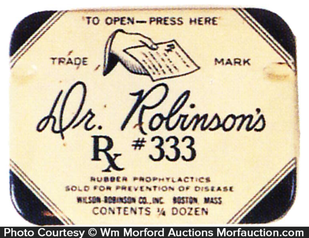 Dr. Robinson's Condom Tin