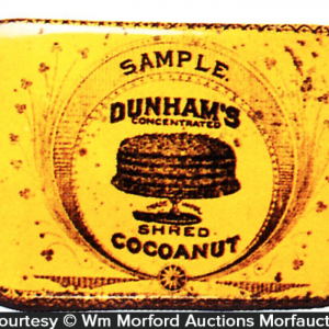 Dunham's Cocoanut Sample Tin