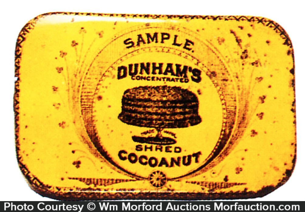 Dunham's Cocoanut Sample Tin