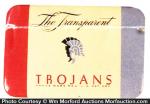 Transparent Trojans Condom Tin