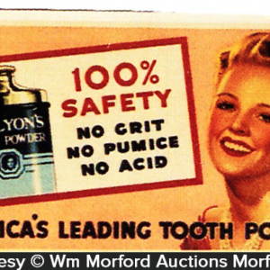Dr. Lyon's Tooth Powder Tin