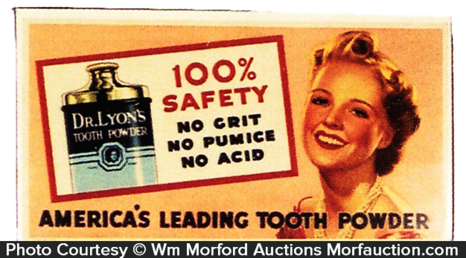 Dr. Lyon's Tooth Powder Tin