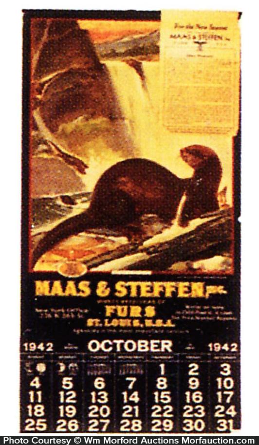 Maas & Stevens Furs Calendar