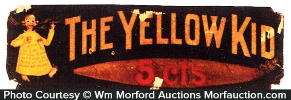 Yellow Kid Cigars Sign