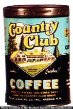 Country Club Coffee Tin