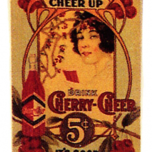 Cherry Cheer Soda Sign