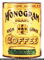 Monogram Coffee Tin