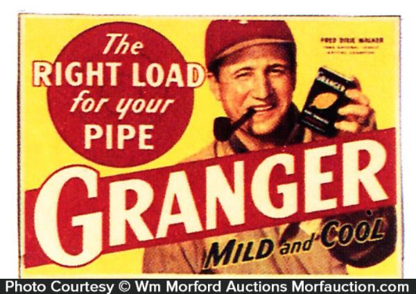 Granger Tobacco Baseball Sign